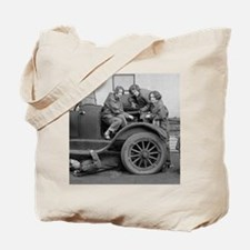 Young Lady Auto Mechanics Tote Bag