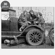 Young Lady Auto Mechanics Puzzle