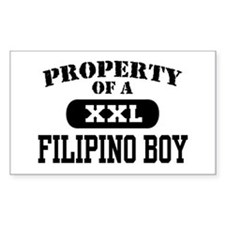 Property of a Filipino Boy Rectangle Decal