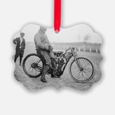 Pope Motorcycle Racer Ornament