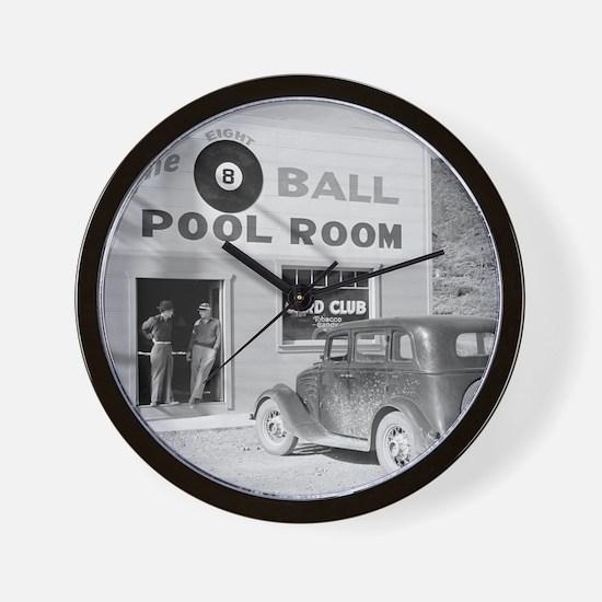 The Eight Ball Pool Room Wall Clock