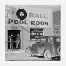 The Eight Ball Pool Room Tile Coaster