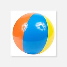 "beachball2 Square Sticker 3"" x 3"""