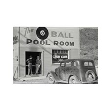 The Eight Ball Pool Room Rectangle Magnet