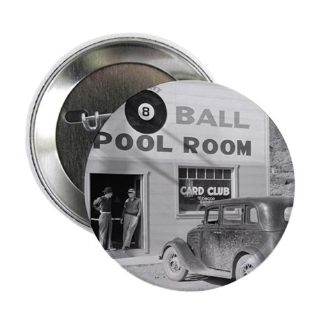 """The Eight Ball Pool Room 2.25"""" Button"""