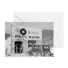 The Eight Ball Pool Room Greeting Card