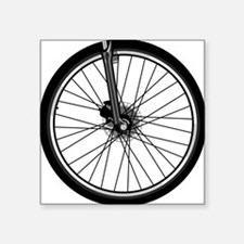 "bikewheel Square Sticker 3"" x 3"""