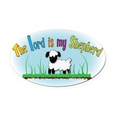 my shepherd Oval Car Magnet