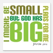 "big plans Square Car Magnet 3"" x 3"""