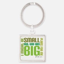 big plans Square Keychain