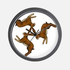 hares col Wall Clock
