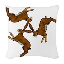 hares col Woven Throw Pillow