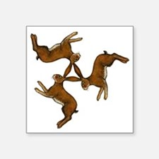 "hares col Square Sticker 3"" x 3"""