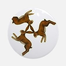 hares col central for black Round Ornament