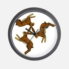 hares col central for black Wall Clock