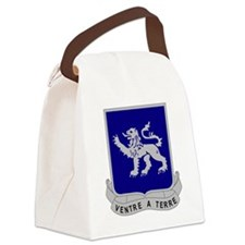 SilverLionsCrest Canvas Lunch Bag