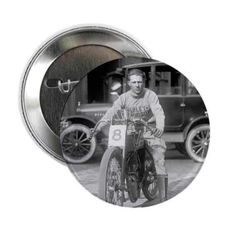 "Harley-Davidson Motorcycle Racer 2.25"" Button"