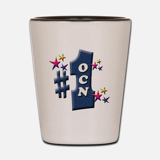 number 1 ocn Shot Glass