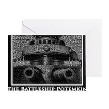 Battleship Mosaic Greeting Card