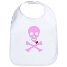 Pink Pirates Love Bib