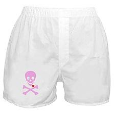 Pink Pirates Love Boxer Shorts