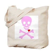Pink Pirates Love Tote Bag