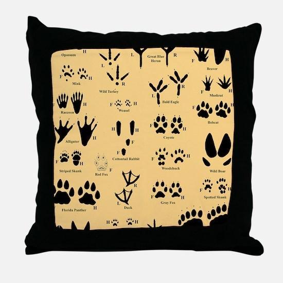 floridasmallltorange Throw Pillow