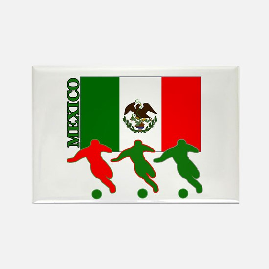 Soccer Mexico Rectangle Magnet (10 pack)