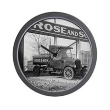 Coal Delivery Truck Wall Clock