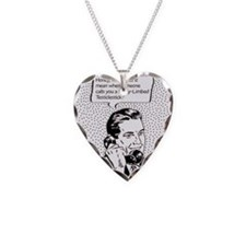 testiclestick Necklace Heart Charm