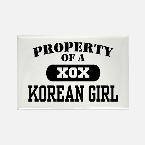 Property of a Korean Girl Rectangle Magnet