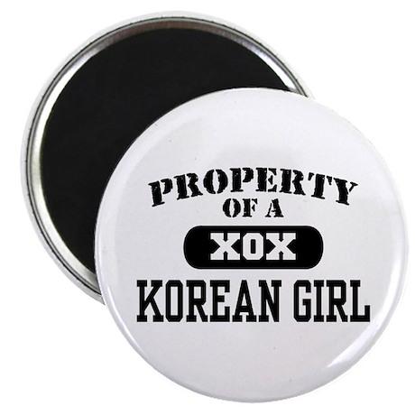 Property of a Korean Girl Magnet