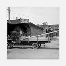 Kelly's Lumber Delivery Truck Queen Duvet