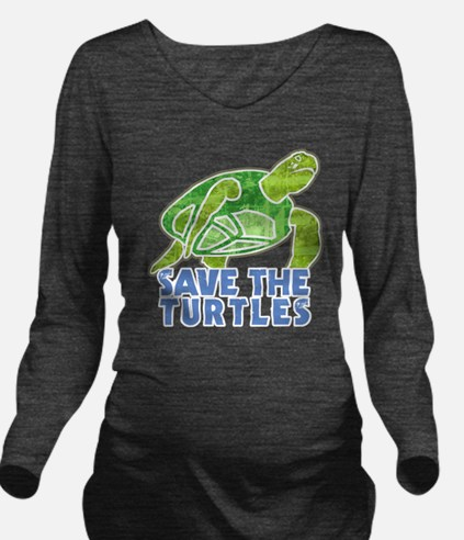 seaTurtle Long Sleeve Maternity T-Shirt