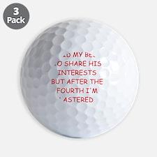 divorced joke Golf Ball