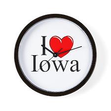 """""""I Love Iowa"""" Wall Clock"""
