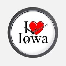 """I Love Iowa"" Wall Clock"