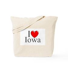 """""""I Love Iowa"""" Tote Bag"""