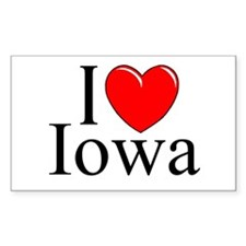 """I Love Iowa"" Rectangle Decal"