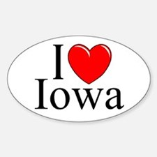 """I Love Iowa"" Oval Decal"