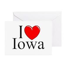 """I Love Iowa"" Greeting Cards (Pk of 10)"