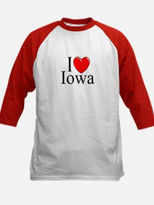 """I Love Iowa"" Kids Baseball Jersey"