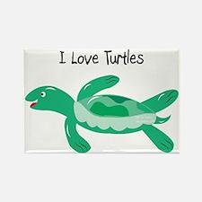 2-turk_turtle_green Rectangle Magnet