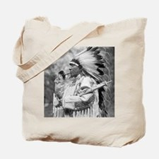 Indian Chief Whirlwind Soldier Tote Bag