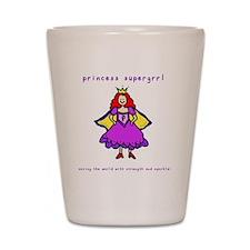 princess supergrrl Shot Glass