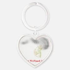 wolf pack2_blk Heart Keychain