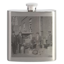 Police With Confiscated Still Flask