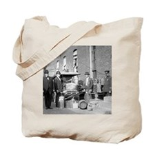 Police With Confiscated Still Tote Bag