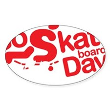 go skateboarding every day pen dark Decal