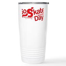 go skateboarding every day stam Travel Mug